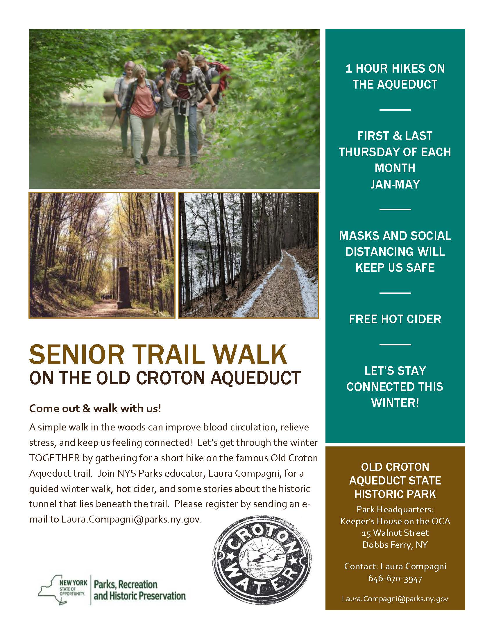 Senior Trail Walks on the Aqueduct